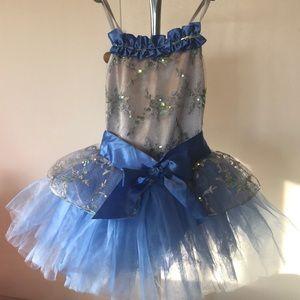 SuperCute Weissman TuTu blue little Girl Dresses